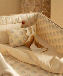 mood himalaya bedding crib blue gatsby cream nobodinoz 1