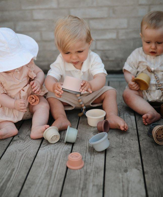 Tour a empiler mushie bebe bio naturel durable 2