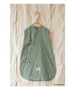 dreamy summer sleeping bag small toffee sweet dots eden green nobodinoz gigoteuse ete bebe bio enfant 2