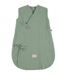 dreamy summer sleeping bag small toffee sweet dots eden green nobodinoz gigoteuse ete bebe bio enfant 5