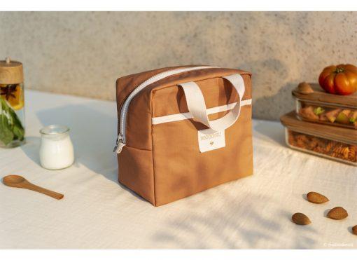 insulated lunch bag sunshine cinnamon nobodinoz sav gouter orange bio coton naturel isotherme mylittledream 1