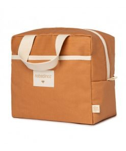 insulated lunch bag sunshine cinnamon nobodinoz sav gouter orange bio coton naturel isotherme mylittledream
