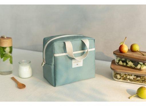 insulated lunch bag sunshine cinnamon nobodinoz sav gouter vert bio coton naturel isotherme mylittledream 1