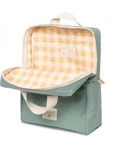 kid backpack sunshine eden green nobodinoz sac a dos sac enfant bebe coton bio 3