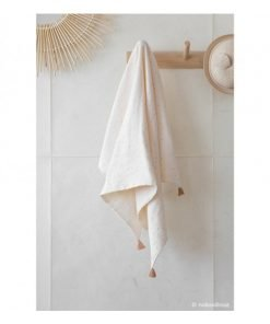 treasure summer blanket sweet dots nobodinoz couverture natural blanc dore bebe naissance ete bio 2