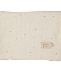 treasure summer blanket sweet dots nobodinoz couverture natural blanc dore bebe naissance ete bio