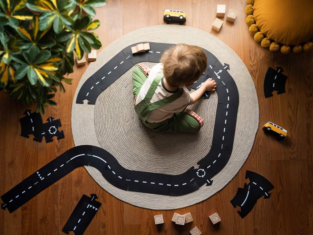 waytoplay waytoplay circuit 16 pieces autoroute durable jeu bebe enfant route expressway 5